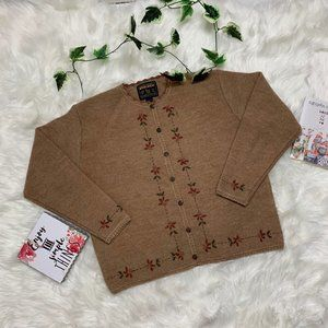 Woolrich Flower Embroidered Knitted Sweater